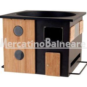 Sedia in legno teak di recupero con schienale alto mercatino balneare - Nido api finestra ...